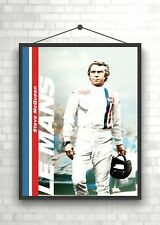 Le Mans Steve McQueen Vintage Large Movie Poster Art Print A0 A1 A2 A3 A4 Maxi