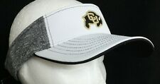official photos 6e77b 4fc4d NEW Colorado University Buffaloes Zephyr White Embroidered Heathered Visor