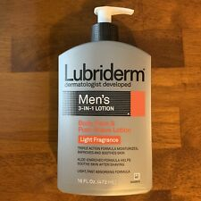 Lubriderm Men's 3-in-1 Lotion; Body, Face, & Post-Shave; Light Fragrance; 16oz.