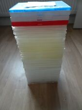 40 DVD Cases Joblot Double Standard Slimline Red White Blue Clear Upcycle Crafts