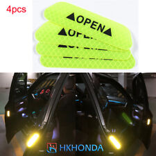 4X Car Door Stickers Safety Reflective Tape Green Open Sign Warning Universal
