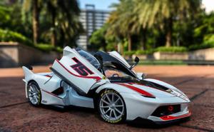 Bburago 1:18 Signature Series Ferrari FXX K FXXK EVO Diecast Model Car White NIB