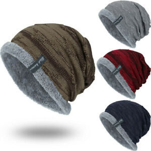Winter Fashion Beanies Slouchy Chunky Hat for Keep Warm Soft Knitting Cap Unisex