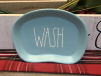 Rae Dunn - WASH - Long Letter Tiffany Blue Ceramic Soap Dish - Kitchen Bathroom