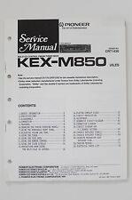 Pioneer kex-m850 ORIGINAL SERVICE MANUAL/MANUEL/schéma! o62