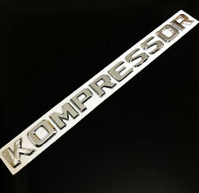 3D Chrome KOMPRESSOR Badge Emblem Sticker Decal For Mercedes Benz SLK CLK SL CLS