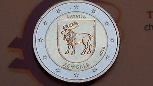 2 euro 2018 LETTONIA Semgallia Zemgale Lettonie Lettland Latvia Латвия