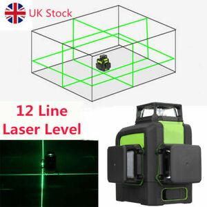 Huepar 3D Self-Leveling Green Laser Level 903CG Horizontal Vertical Cross Line