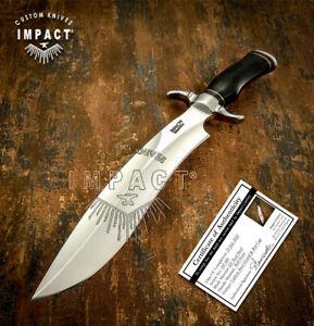 IMPACT CUTLERY RARE CUSTOM D2 SASQUATCH BOWIE KNIFE BULL HORN HANDLE