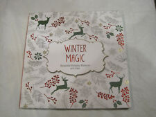 Winter Magic Adult Holiday Coloring Book by Barron~New~Free Ship~LBDLH