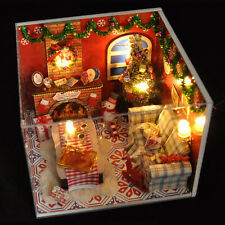 DIY 3d Miniature Wooden Doll House LED Light Mini Dollhouse Kit With Furniture