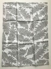 Crate and Barrel PINECONE Silver DISHTOWEL-Winter/Christmas -NEW-NWOT