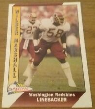 Wilber Marshall (Redskins) 1991 PACIFIC NFL Trading Card # 528