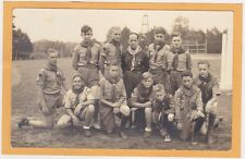 Real Photo Postcard RPPC - Boy Scout Troop and Scout Master