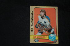 JIM SCHOENFELD 1972-73 O-PEE-CHEE ROOKIE SIGNED AUTOGRAPHED CARD #220 SABRES