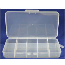 HAWK TJ8710 - 10 Compartment Plastic Bead Craft Small Parts Fishing Storage Box
