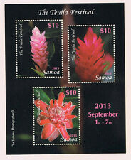 Samoa - Teuila Flower Festival Souvenir Sheet Postage Stamp Issue