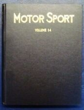 MOTOR SPORT MAGAZINE BOUND VOLUME 14 1938 WITH INDEX