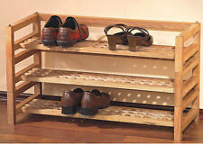 Brand New Stackable Design Contemporary Shoe Rack in Nature Color - Asdi