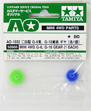 Tamiya Ao-1032 Mini 4Wd G-6, G-10 Gear (1 Each) (10303)