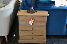 Libra Furniture DALTON Tiny Chest of Drawers Grey Washed Wood Bedside Table