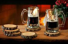 New listing 2 Hickory Beautiful Wood Coasters Handmade Western North Carolina
