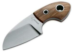 Boker 02bo238 Voxknives Gnome Olive Wood Fixed Blade With Sheath