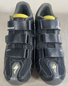 Specialized Sport Body Geometry Cycling Shoes Size 10 Black/Yellow