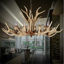 New 8-Heads Deer Antler Chandelier Resin Pendant Lighting Vintage Ceiling Light