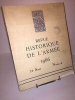 Revue historique de l'Armée 1966 numéro 4.