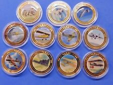 The History of Flight Centenary Collection Gold Plated Medallions in Capsules