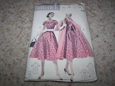 Vtg 50's BUTTERICK Sewing Pattern 7647 WOMENS DRESS & COAT Size 14 Bust 32 UNCUT