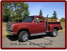 1978 Dodge Warlock Pickup Truck Refrigerator / Tool Box Magnet Gift Card Insert