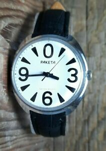 Soviet Raketa Big Zero watch Russia USSR 2609 Men Copernic wristwatch Vintage 1