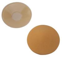 Cache-tétons nippies pasties adhésifs silicone couleur chair tissu satiné base