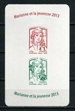 ADHESIF N° 913 et 920 MARIANNE CIAPPA Couverture carnet republique fil du timbre