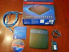 Cisco LINKSYS E3200 4-Port Gigabit Ethernet Dual-Band N Wireless Router 2.4 + 5