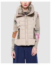 Cappotti e giacche da donna gilet e giubbotti imbottiti beige taglia 42