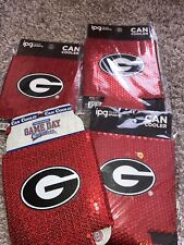 University of Georgia Bulldogs Can Coolie Coozie Ncaa Licensed 4 Each Red