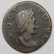 1760 N-10 R-5 LDS Tall Head Voce Populi Colonial Copper Coin