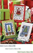 SEASON'S GREETINGS CARDS -  CROSS STITCH PATTERN ONLY  GU - EEY