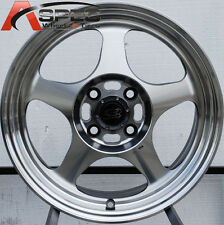 16x7 Rota Slipstream 4x100 +40 Polished Rims Fits Civic Miata Mr2 Xb Corolla