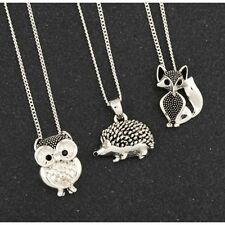 Equilibrium Fox / Owl / Hedgehog Silver Plated Necklace & Chain - Boxed