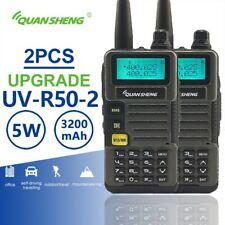 2pcs Quansheng UV-R50-2 Dual Band Walkie Talkie Radio Station Walky Talky Radio