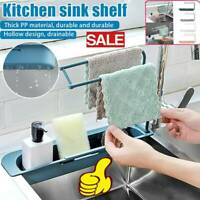 Telescopic Sink Rack Holder Expandable Storage Drain Basket for Home Kit