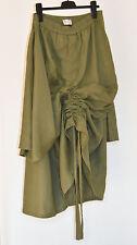 Extravaganter Leinenrock m. p. Berlin Gr. XL 44 Lagenlook oliv grün