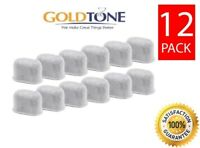 (12) GoldTone Charcoal Water Filters for Keurig 1.0 2.0 & Breville Coffee Makers