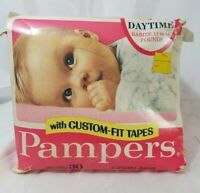 Vintage Pampers Diapers Pink Box  Daytime 11-16 pound (30) 1969~1974