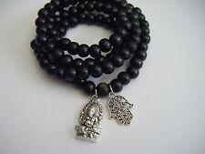 """Spiritual Unisex 26"""" Mala Necklace Stacking Bracelet Ganesha Healing Yoga Love"""