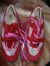 REBAJAS acebos preciosas zapatillas piel rojas  mujer talla nº 41 nuevo